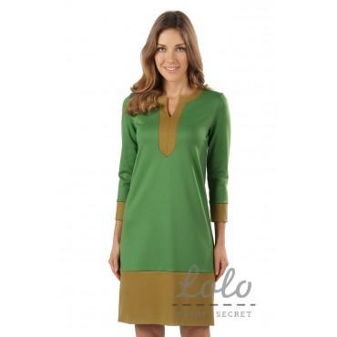 """Платье """"DR041"""" зеленое для беременных"""
