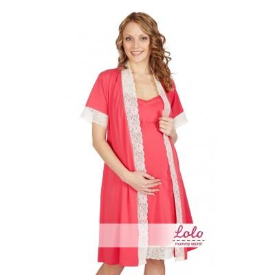Комплект розовый (халат+Ночная сорочка)