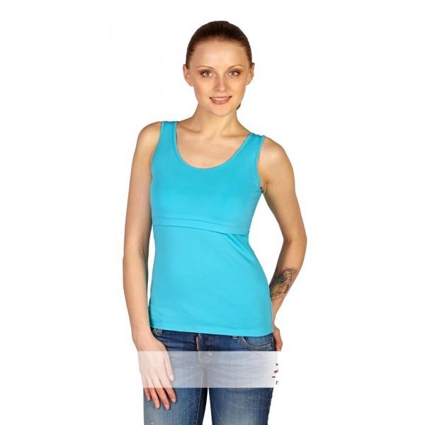 """Майка """"М004.6"""" голубая для беременных и кормящих"""
