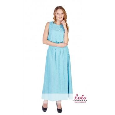 """Платье """"DR009.1"""" голубое для беременных"""