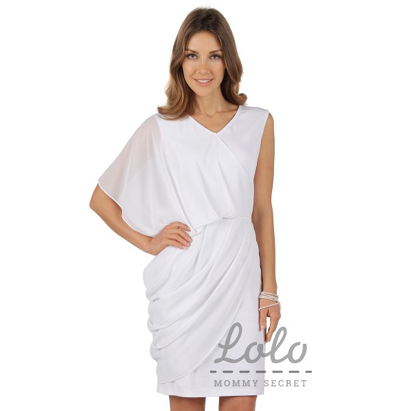 """Платье """"DR089.1"""" белое для беременных"""