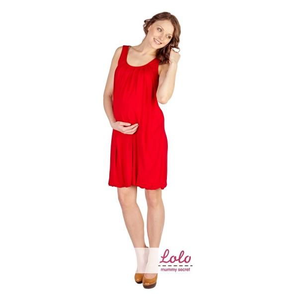 """Платье """"Dr 004.4"""" Красное для берем/кормл"""