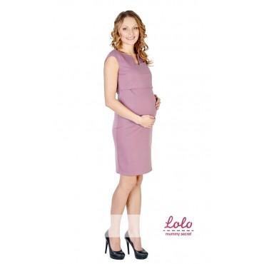 """Платье """"Dr019.5"""" Дымчатая роза для беременных и кормящих"""