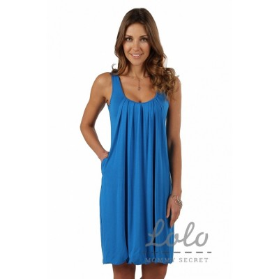 """Платье """"Dr004.7"""" Голубое для берем/кормл"""