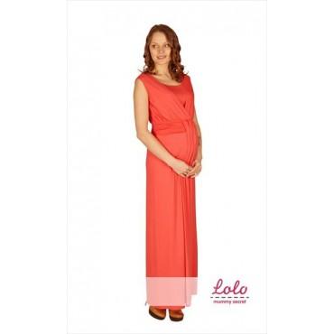 """Платье в пол """"Коралл"""" для беременных и кормящих мам"""