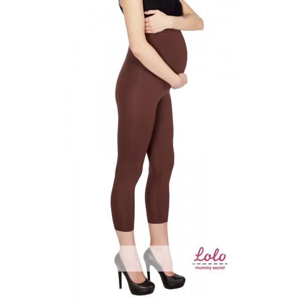 """Лосины укороченные """"коричневые"""" для беременных"""