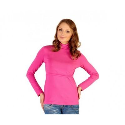 Водолазка (бадлон) Розовая для беременных и кормящих мам