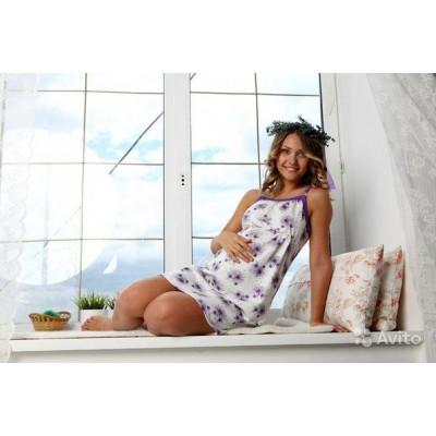 """Сорочка """"Jane"""" фиолет для беременных и кормящих"""