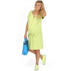 """Платье """"Трейси"""" зел.яблоко для беременных и кормящих мам"""
