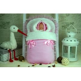 Комплект на выписку зимний Розовый