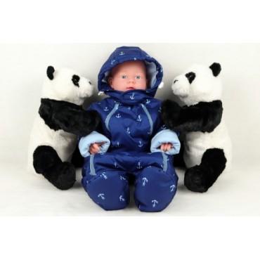 """Комбинезон демисезон """"К-843"""" Синий, для новорожденных"""
