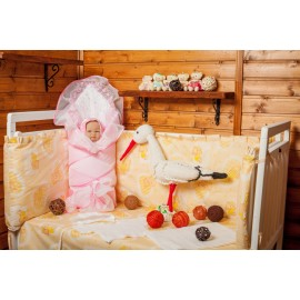 Комплект на выписку (весна-осень) Розовый