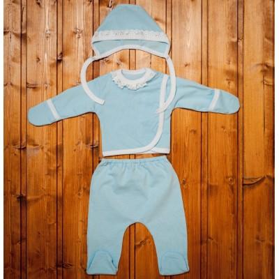 """Комплект для новорожденных Голубой """"Я-318"""""""