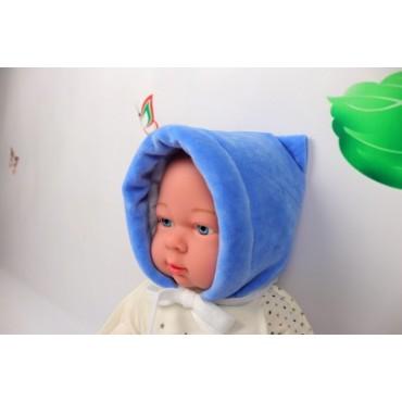 """Шапочка велюр утепленная """"Ш-113"""" для новорожденных"""