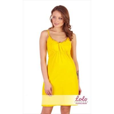 """Ночная сорочка """"Nd 001.7"""" Желтая для беременных и кормящих"""