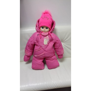 Комбинезон-трансформер Зима/деми розовый