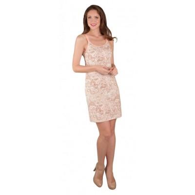 """Ночная сорочка """"Ева"""" розовые узоры для кормящих мам"""