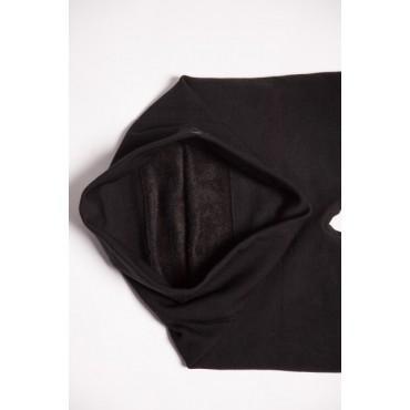 Бесшовные Лосины с начесом черные для беременных