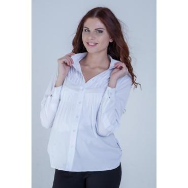 """Блуза """"тт402-дл"""" Белая для беременных и кормящих"""