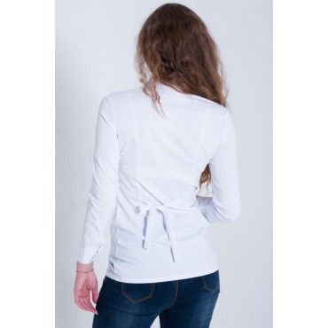 """Блуза """"тт403"""" Белая для беременных и кормящих"""