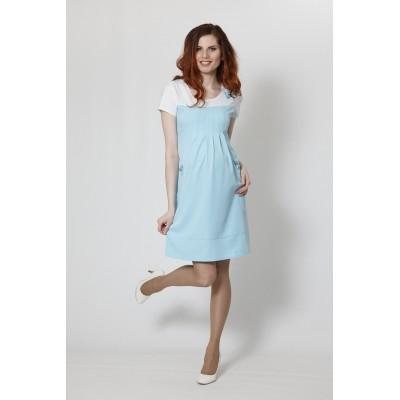 """Платье """"Тт555"""" голубой для беременных"""