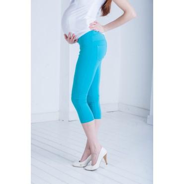 """Капри """"ТТ743"""" синий для беременных (удлиненные шорты)"""