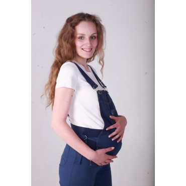 """Комбинезон """"Тт203-1"""" Индиго для беременных и кормящих"""