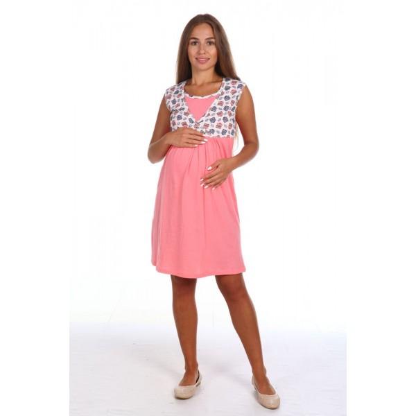 """Сорочка """"8.40"""" для беременных и кормящих, коралловый"""