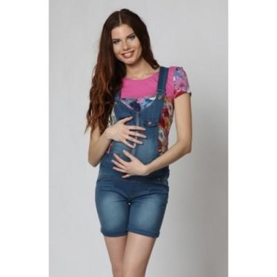 """Комбинезон-Шорты для беременных """"5013"""" джинсовые"""