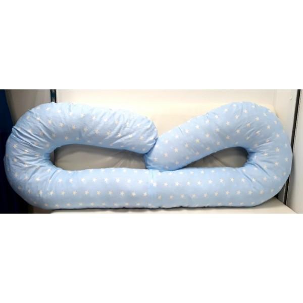 """Подушка """"С-430см"""" голубая/белые звезды"""