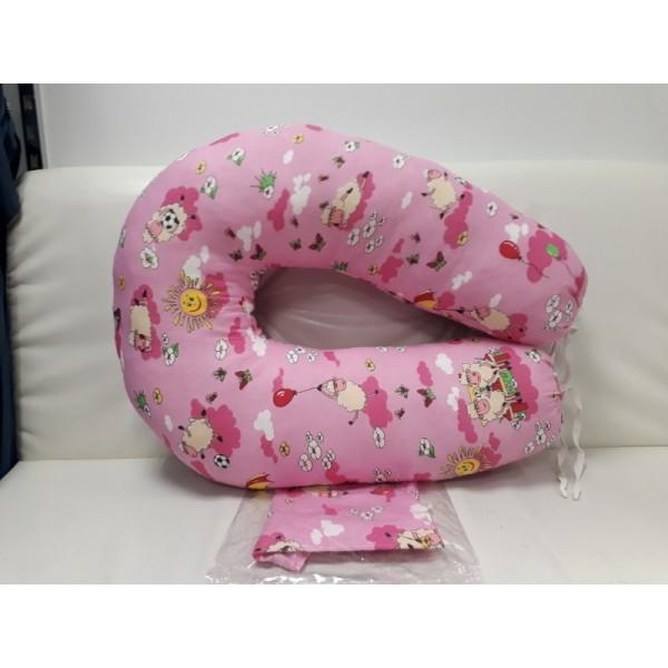"""Подушка """"Розовая с игрушками"""" для беременных и кормления"""