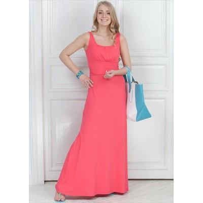 Платье ПВ04 коралл для беременных и кормящих