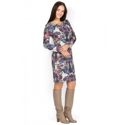 """Платье """"Джэмма"""" фиолетовые цветы для беременных и кормящих"""