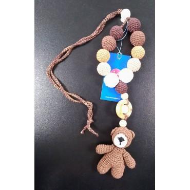"""Слингобусы (грызунок с рождения) с игрушкой """"Мишка т.коричневый"""""""