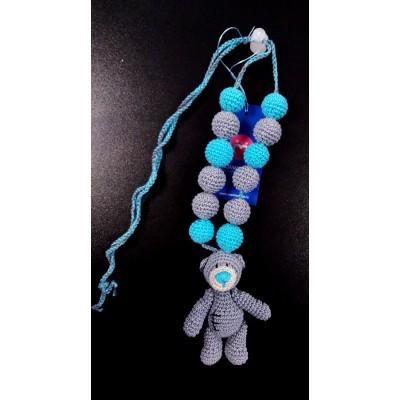 """Слингобусы (грызунок с рождения) с игрушкой """"Мишка Тедди серый"""""""