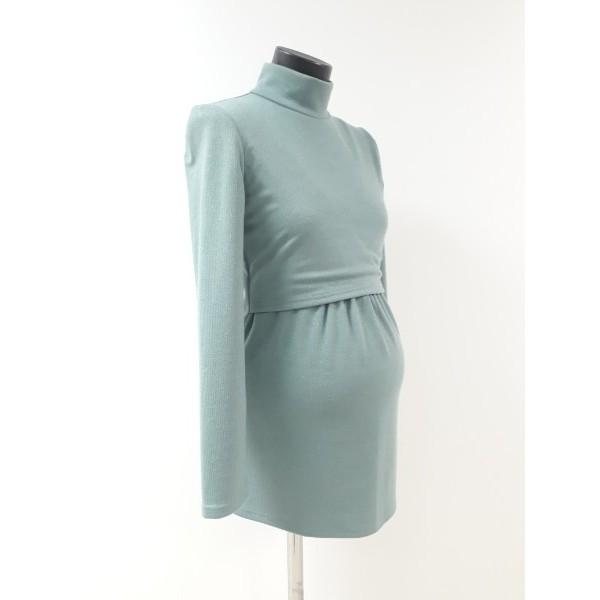 Блуза для беременных и кормящих мам фисташкового цвета