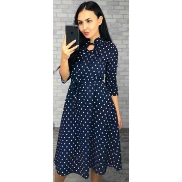 """Платье """"5061"""" синеегорох для беременных и кормящих"""