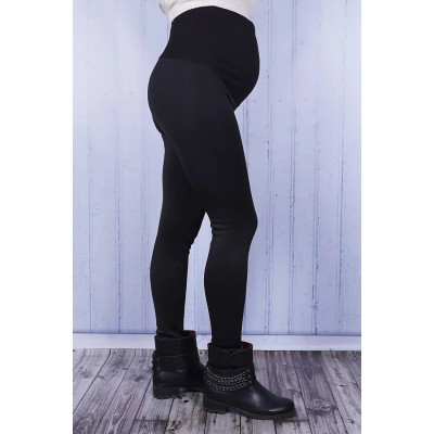 Брюки на меху черные для беременных
