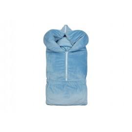"""Конверт на выписку зимний """"340"""" голубой с комплектом нательной одежды"""