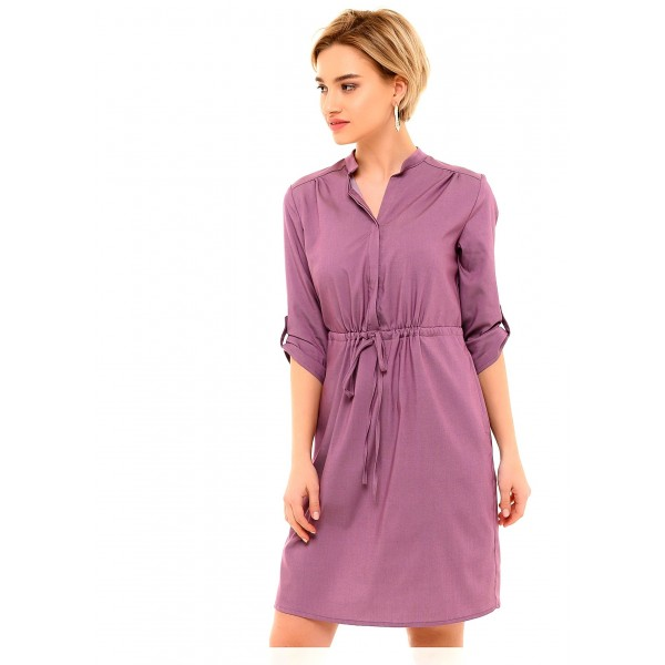 Летнее платье для беременных лиловое с секретом для кормления грудью