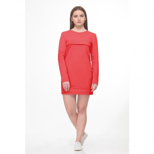 Платье для беременных и кормящих нежный коралл