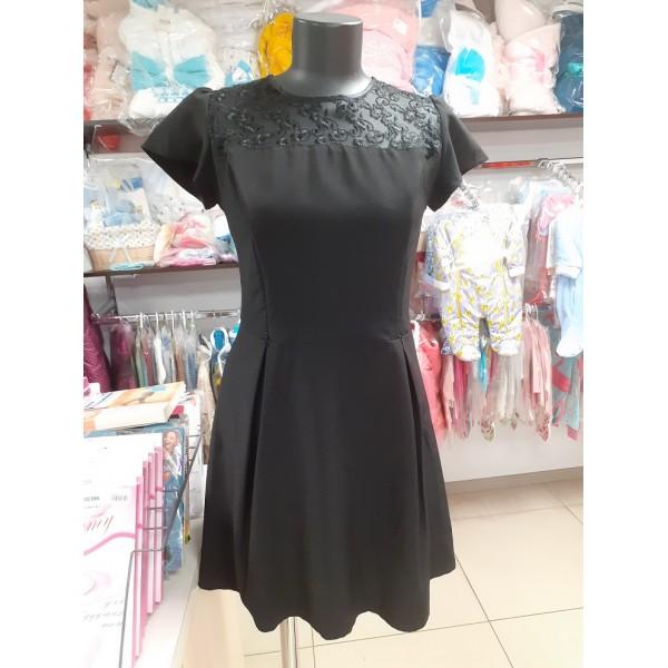 Платье для кормящих черное
