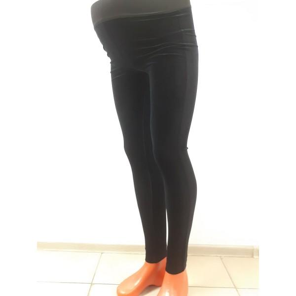 """Лосины """"V623930"""" для беременных летние чёрные бархат"""