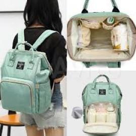 Рюкзак для мамы (сумка для бутылочек и приналдежностей) мятный