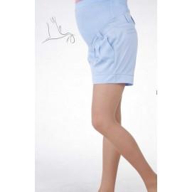 Шорты для беременных голубые