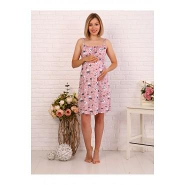 Комплект Халат и сорочка в роддом для беременных и кормящих серый