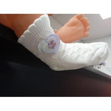 Носочки для новорожденных для девочки