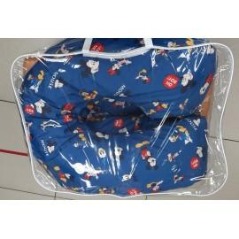 """Подушка для беременных большая """"Макси"""" U-350 синяя/микки-маус"""