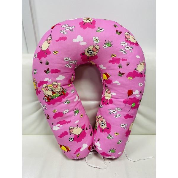 """Подушка для кормления """"Подкова"""" U-170 розовая/игрушки"""