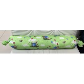 Подушка для беременных прямой валик зеленая/игрушки